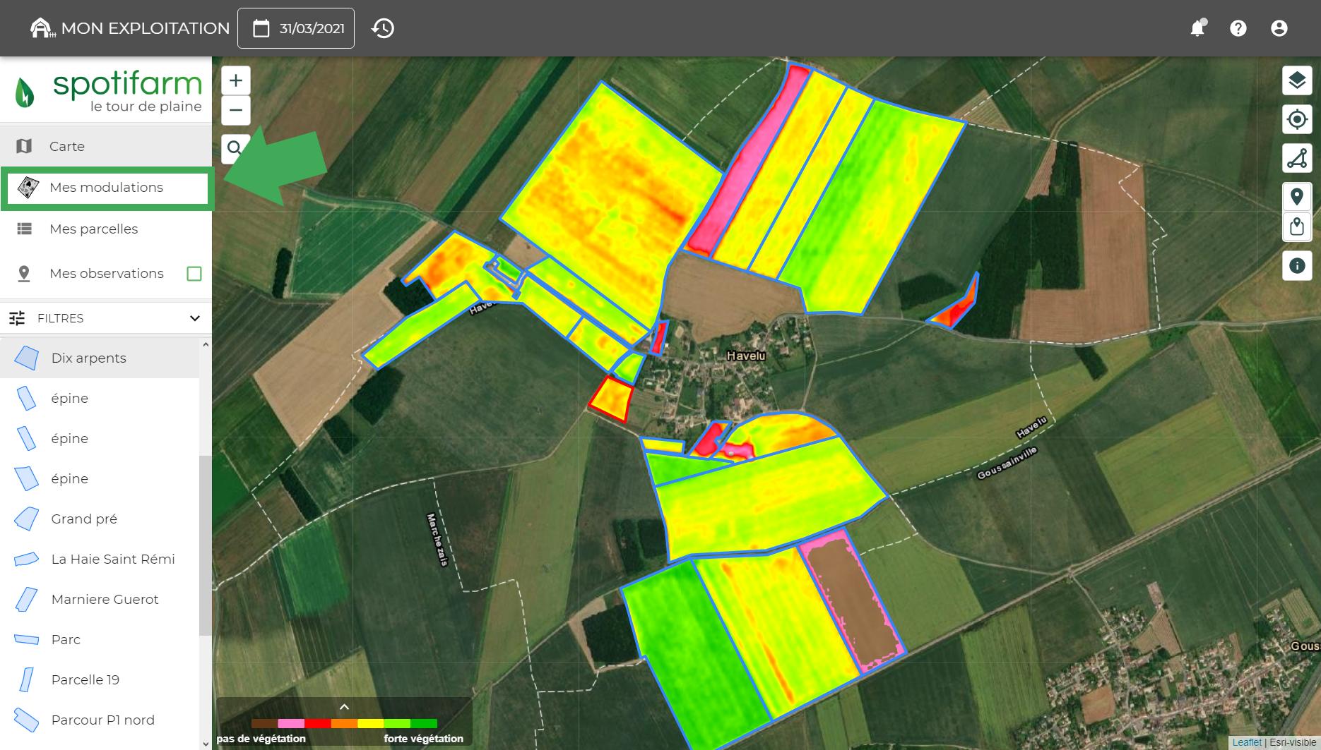 imagerie-satellite-indice-vegetation-spotifarm-ndvi-biomasse-teledetection-agriculture-prescription-VRA-variabilite-intraparcellaire-suivi-croissance-