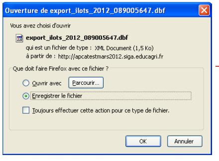 ouverture export